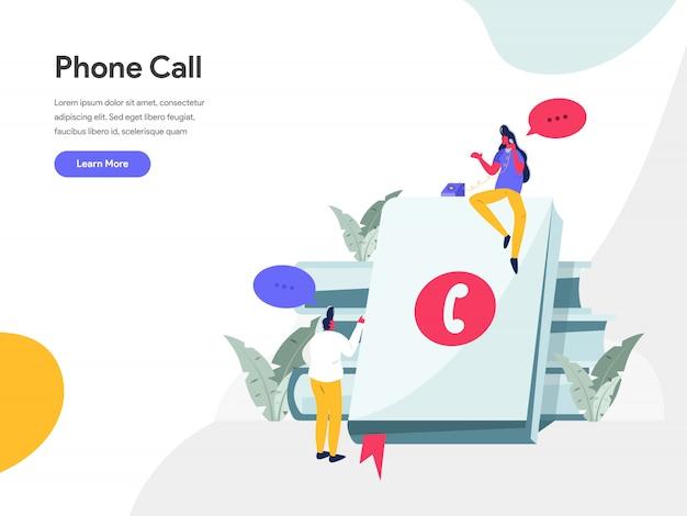 Concept d'illustration d'appel téléphonique