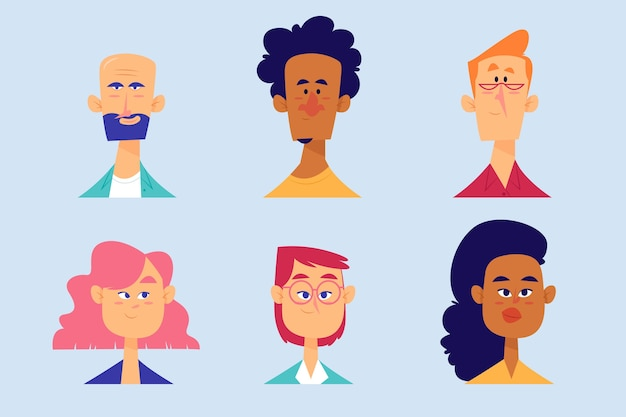 Concept d'illustration avatars personnes