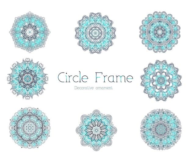 Concept d'illustration de cadre ornement abstrait dessinés à la main.
