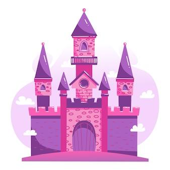 Concept d'illustration avec château
