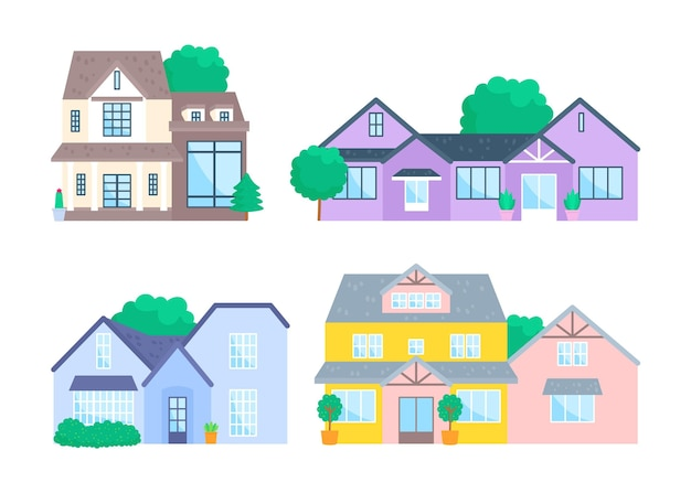 Concept d'illustration de collection de maison