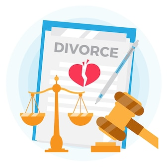 Concept d'illustration de divorce