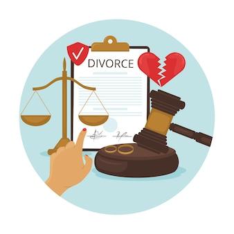 Concept d'illustration de divorce