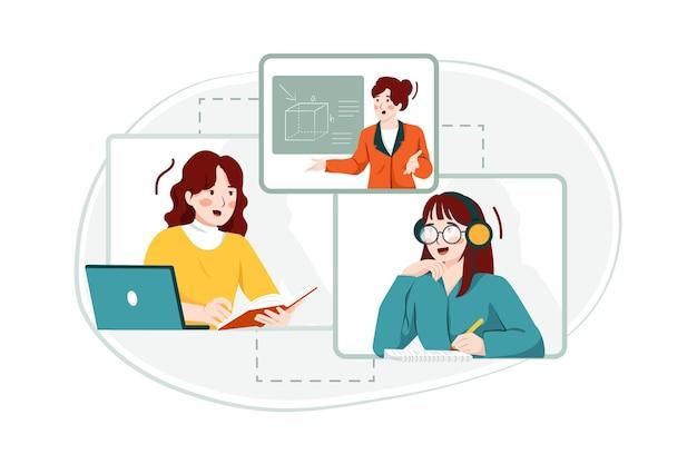 Concept d & # 39; illustration de l & # 39; éducation en ligne