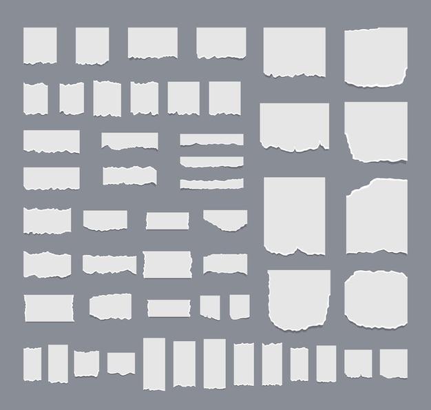 Concept d'illustration ensemble de feuilles déchirées