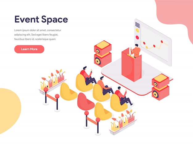Concept d'illustration d'espace événementiel