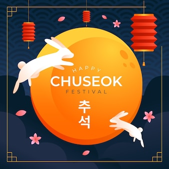 Concept d'illustration festival chuseok