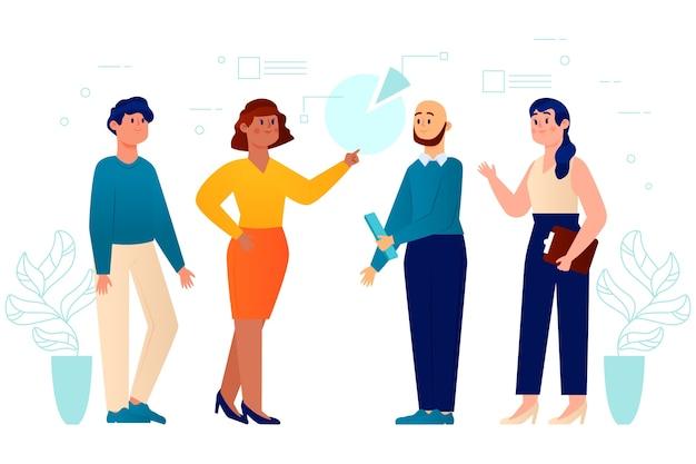 Concept d'illustration de gens d'affaires