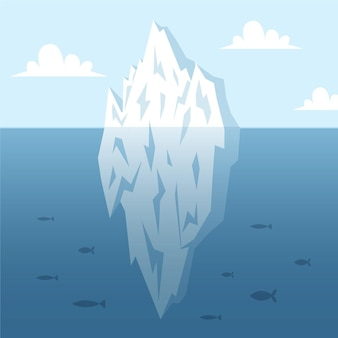Concept d'illustration iceberg