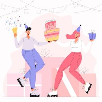Concept d'illustration joyeux anniversaire