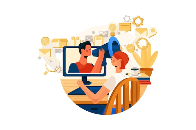 Concept d & # 39; illustration de marketing numérique