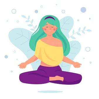Concept d'illustration de méditation