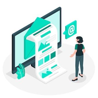 Concept d'illustration newsletter