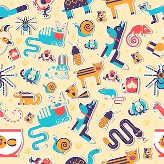 Concept d & # 39; illustration plat animaux de compagnie