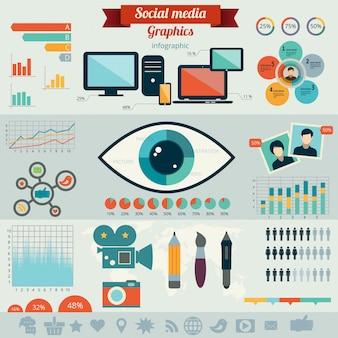Concept d'illustration pour les médias sociaux.