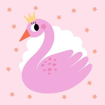 Concept d'illustration de princesse cygne