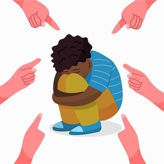 Concept d'illustration de racisme