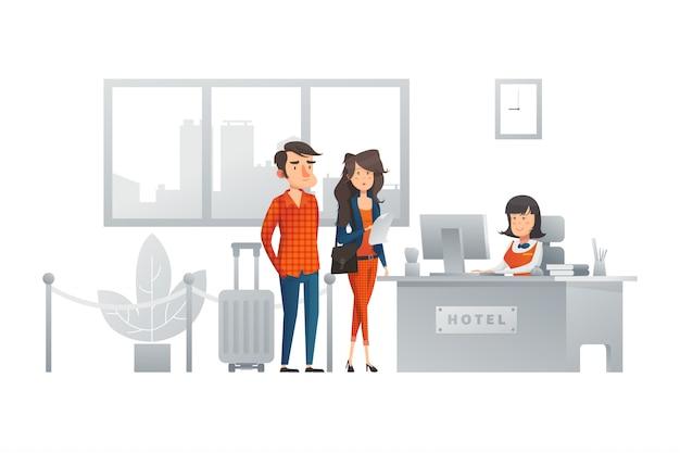 Concept d'illustration réceptionniste