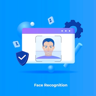 Concept d'illustration de reconnaissance faciale.