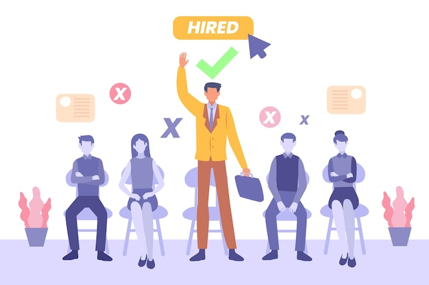 Concept d'illustration de recrutement