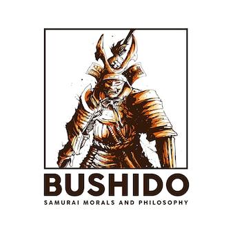 Concept d'illustration de samouraï