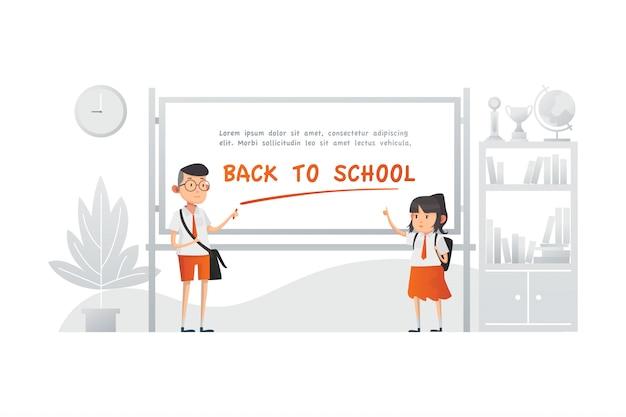 Concept d'illustration scolaire
