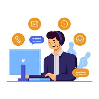 Concept d'illustration de service client