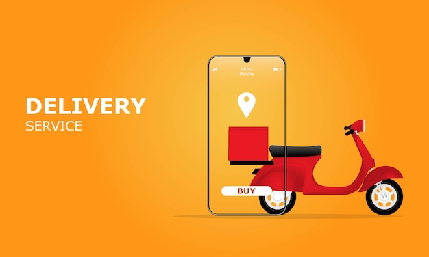 Concept d'illustration de service de livraison en ligne, adapté à la page de destination web
