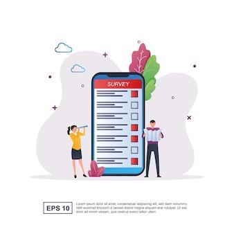 Concept d'illustration d'un sondage en ligne avec la personne qui sélectionne actuellement le candidat sur l'écran de l'ordinateur.