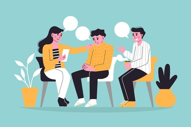 Concept d'illustration de thérapie de groupe