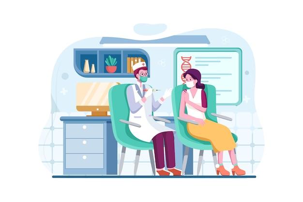 Concept d & # 39; illustration de vaccination