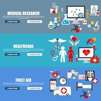 Concept d'illustration de vecteur moderne style design plat pour bannières médicales avec le médecin.