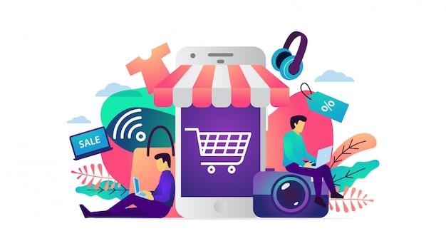 Concept d'illustration vectorielle de commerce électronique