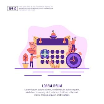 Concept d'illustration vectorielle du calendrier