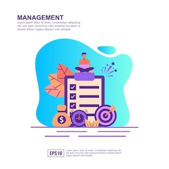 Concept d'illustration vectorielle de gestion