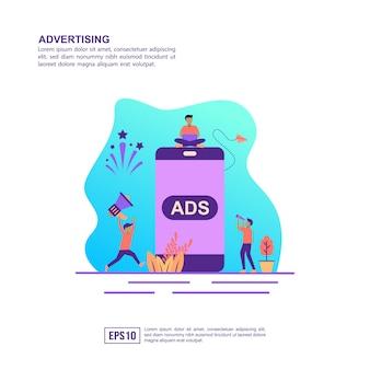 Concept d'illustration vectorielle de la publicité