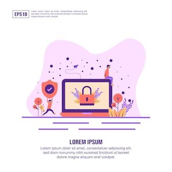 Concept d'illustration vectorielle de la sécurité web