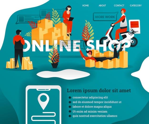 Concept d'illustration web pour la boutique en ligne