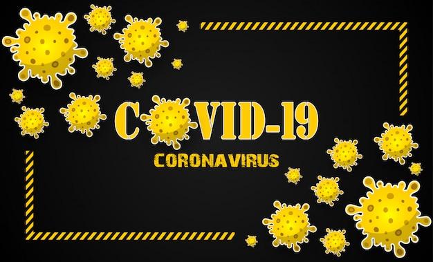 Concept illustrations maladie du coronavirus covid-19