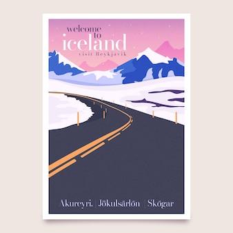 Concept illustré d'affiche de voyage