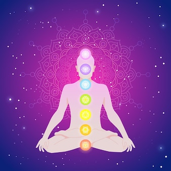 Concept illustré de chakras