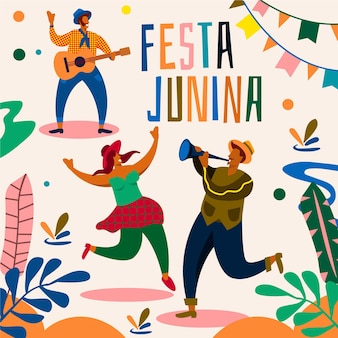 Concept illustré de l'événement festa junina