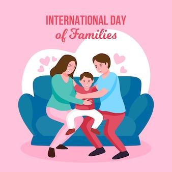Concept illustré de la journée internationale des familles