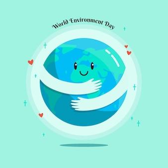 Concept illustré de la journée mondiale de l'environnement