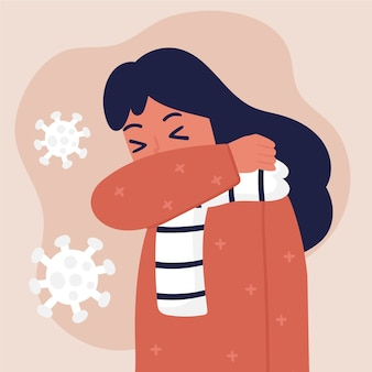 Concept illustré de la toux