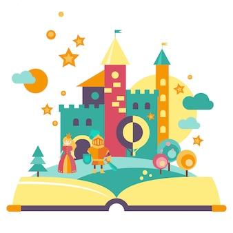 Concept d'imagination, livre ouvert