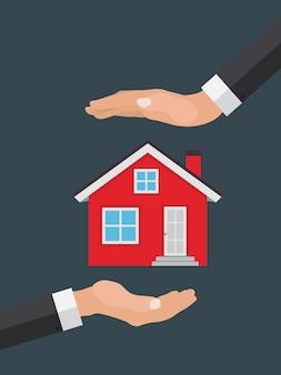 Concept immobilier acheter une maison.