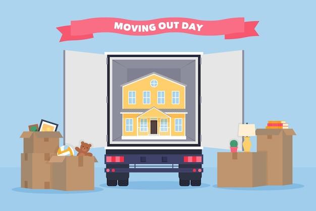 Concept immobilier de jour de déménagement