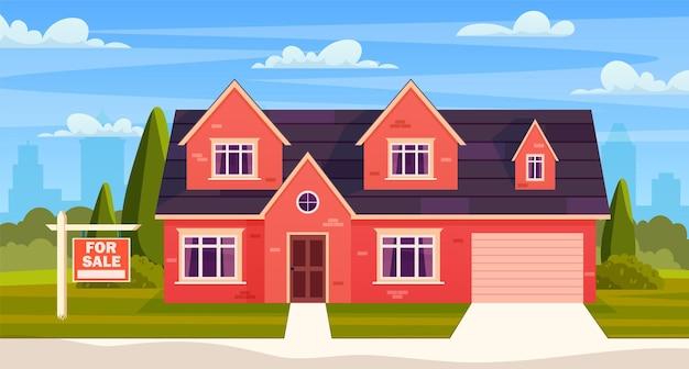 Concept immobilier. maison à vendre