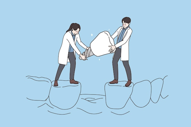 Concept d'implant dentaire d'orthodontiste de soins dentaires